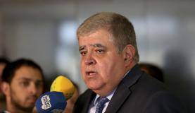 Brasília - O secretário-geral da Presidência da República, ministro Carlos Marun, em entrevista à imprensa (Wilson Dias/Agência Brasil)