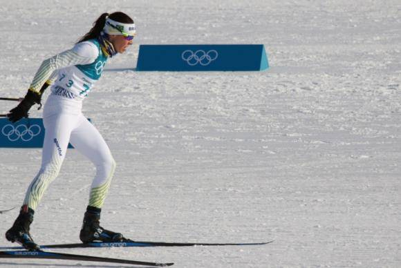 Esquiadora brasileira
