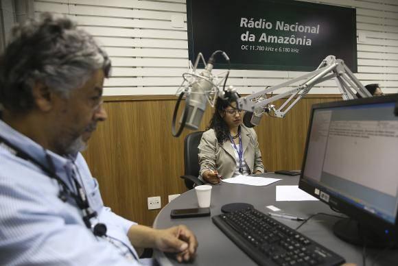 Estúdio da Rádio Nacional da Amazônia - Foto Marcello Casal Jr./Agência Brasil
