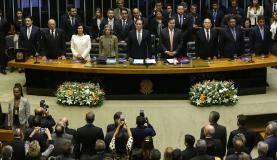 Brasília - Sessão solene no Congresso Nacional de abertura dos trabalhos do ano legislativo de 2018 (Wilson Dias/Agência Brasil)