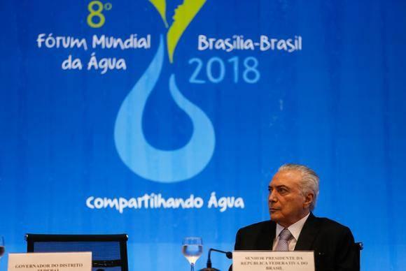 Presidente Michel Temer abre o 8 Fórum Mundial da Água (Beto Barata/PR)