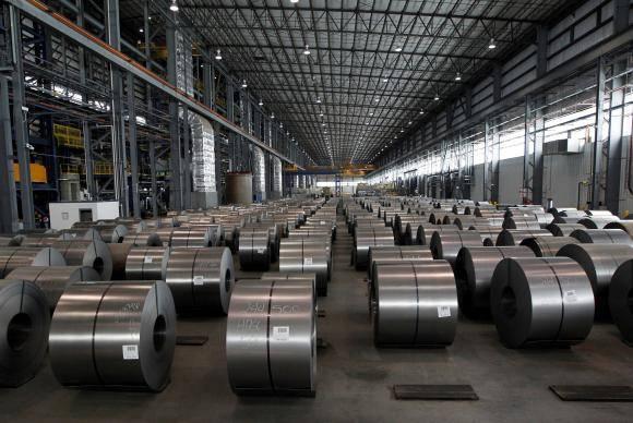 Bobinas de aço galvanizado prontas para serem entregues