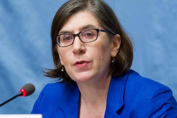Porta-voz do Escritório dos Direitos Humanos, Liz Throssel.