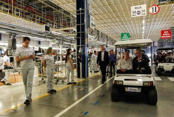 Goiana (PE) - O presidente Michel Temer durante visita a planta industrial da Fiat Chrysler Automobiles (Beto Barata/PR)