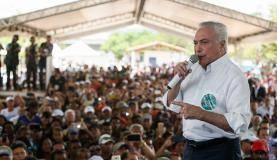 Xique-Xique (BA) - Presidente da República, Michel Temer discursa durante cerimônia de inauguração do Projeto de Irrigação Baixio de Irecê (Beto Barata/PR)
