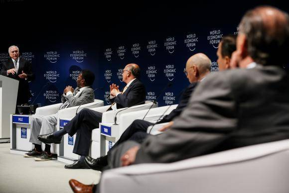 São Paulo - O presidente Michel Temer discursa na sessão de abertura do Fórum Econômico Mundial para a América Latina (Beto Barata/PR)