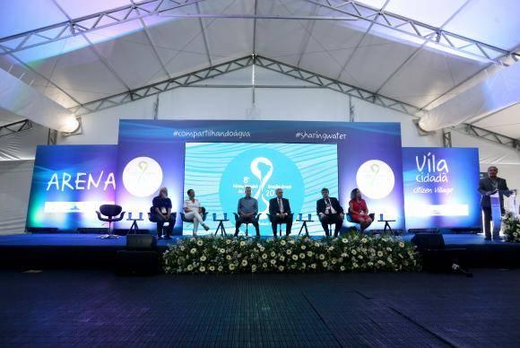 Brasília - Solenidade inauguração da Vila Cidadã do 8 Fórum Mundial da Água, na área externa do Estádio Mané Garrincha (Wilson Dias/Agência Brasil)