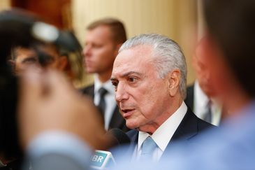 Lima - O presidente Michel Temer durante entrevista à imprensa, no Hotel Swissôtel (Alan Santos/PR)