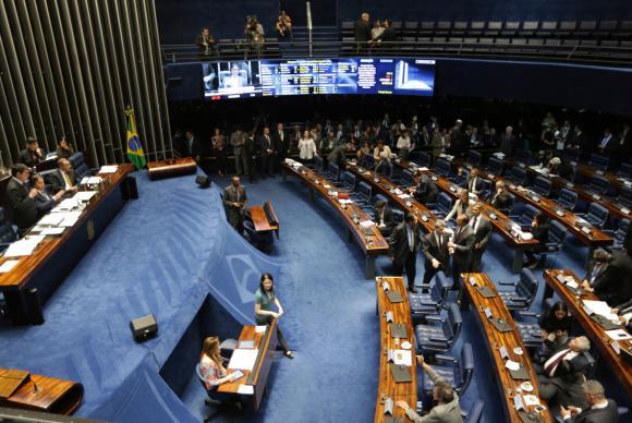 Brasília - Plenário do Senado aprova projeto de lei que estabelece como competência da Justiça Eleitoral julgar ações que tratem sobre disputa intrapartidária (Fabio Rodrigues Pozzebom/Agência Brasil)