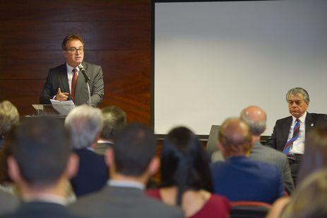 Brasília - Vinícius Lummertz toma posse na presidência do Instituto Brasileiro de Turismo (Embratur) (José Cruz/Agência Brasil)