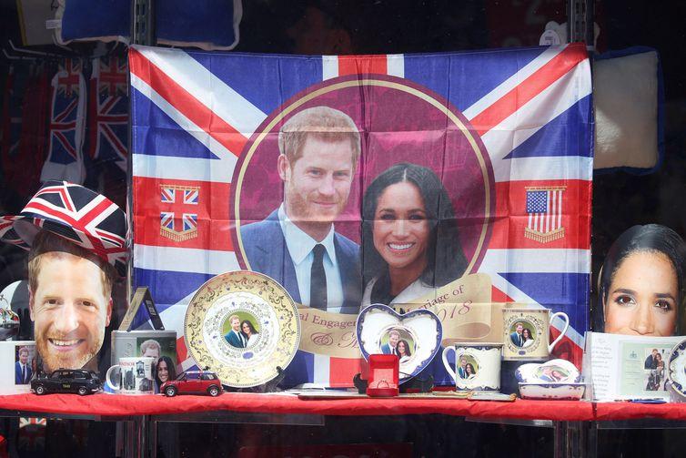 Comércio fatura com casamento do príncipe Harry e a atriz Meghan Markle