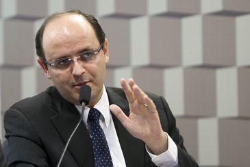 O ministro da Educação, Rossieli Soares da Silva, durante audiência pública promovida pela Comissão de Educação, Cultura e Esporte do Senado.