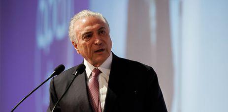 O presidente Michel Temer participa da cerimônia de abertura da Apas Show 2018, em São Paulo