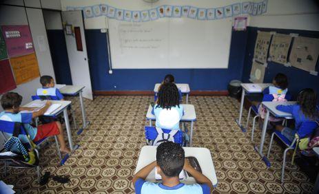 Rio de Janeiro - Escola municipal Levy Miranda na ilha de Marambaia, baia de Sepetiba, sul do estado (Tânia Rêgo/Agência Brasil)