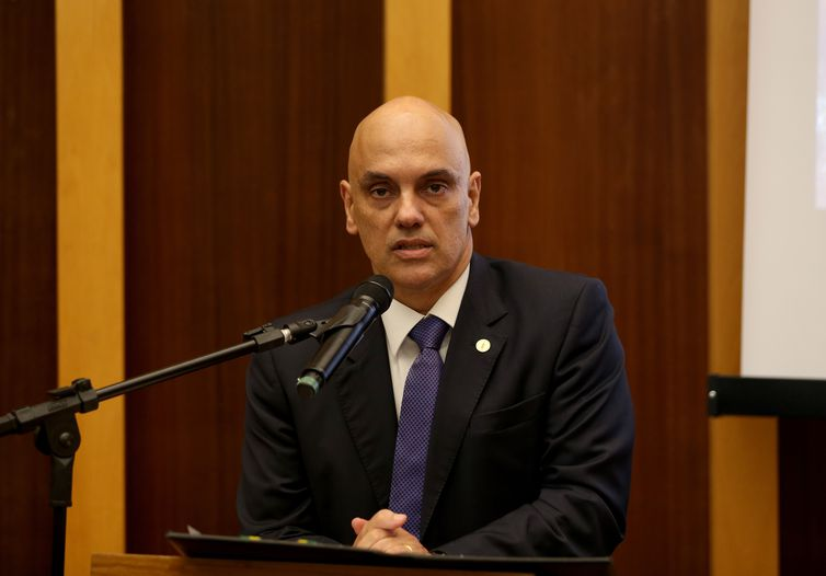 Brasília - O ministro do Supremo Tribunal Federal (STF), Alexandre de Morais, faz palestra de abertura do 2º Encontro do Fórum Nacional dos Juízes Criminais, na sede do TJDFT (Wilson Dias/Agência Brasil)