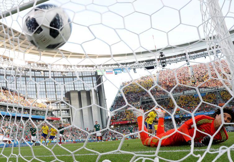 Copa 2018, México e Suécia, Gol Suécia REUTERS/Andrew Couldridge