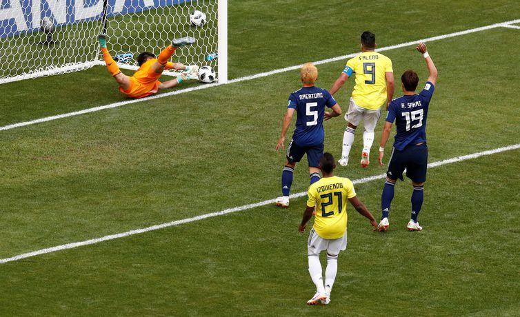 Copa 2018, Colômbia e Japão, Gol REUTERS/Damir Sagolj