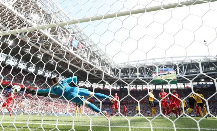 Copa 2018, Bélgica e Tunísia, Gol Bélgica REUTERS/Carl Recine