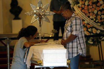 Velório do adolescente Marcus Vinicius da Silva, baleado durante operação da Polícia Civil no Complexo da Maré.