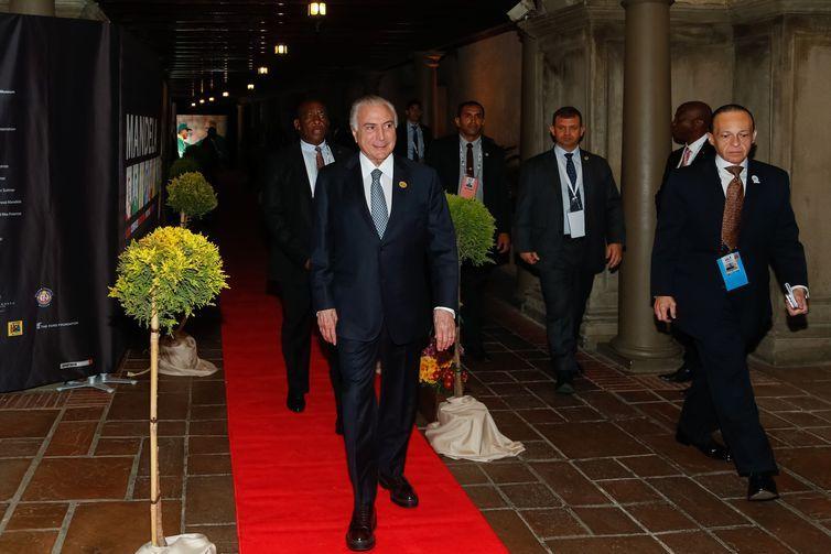 Presidente Michel Temer participa de jantar em homenagem aos chefes de Estado e de Governo do Brics (Brasil, Rússia, Índia, China e África do Sul), oferecido pelo presidente sul-africano, Cyril Ramaphosa.