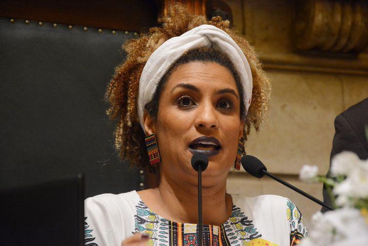 Marielle Franco em registro de novembro de 2017