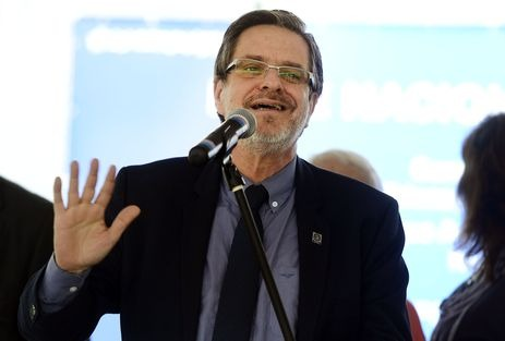 Rio de Janeiro - Reitor da UFRJ, Roberto Leher, durante inauguração de complexo esportivo no campus da Ilha do Fundão (Tomaz Silva/Agência Brasil)