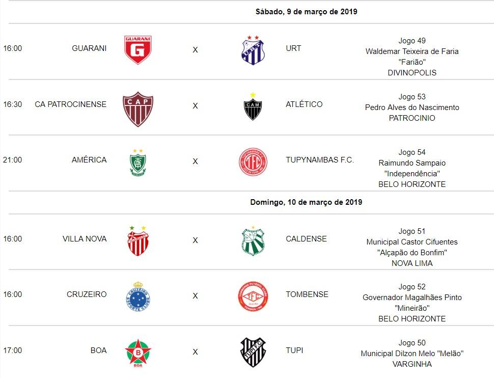 9ª Rodada - Campeonato Mineiro