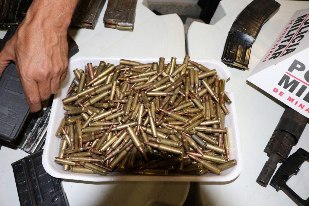 Armas dos bandidos serão usadas pela PM de Uberaba