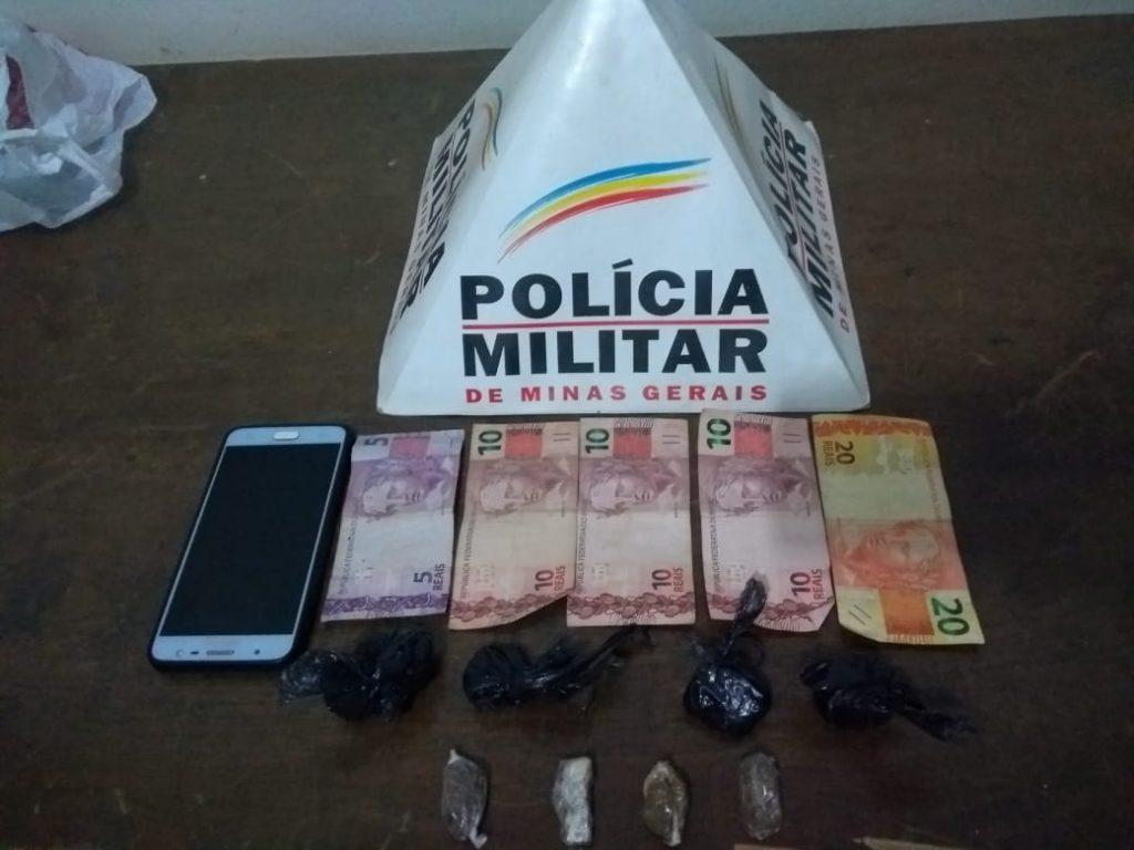 Monte Carmelo: PM prende suspeito de tráfico