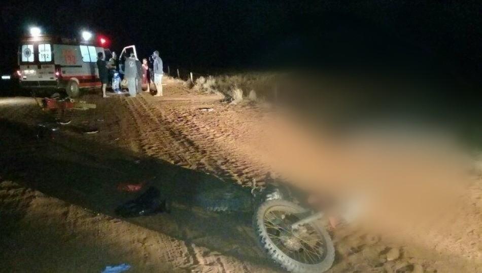 Dois motociclistas morrem em acidente na zona rural