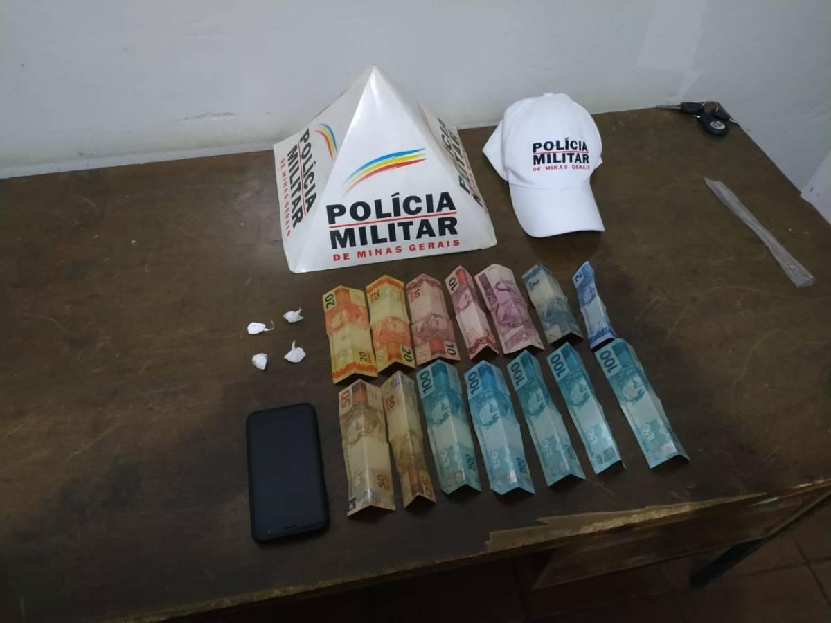 Homem é preso com cocaína na MG-190 em Romaria