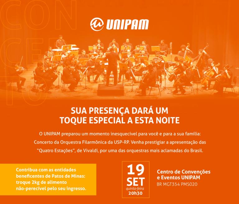Orquestra Filarmônica da USP se apresentará em Patos de Minas