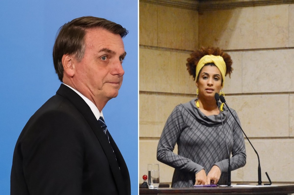 Bolsonaro e Marielle Franco