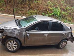 PMR registra acidente na MG-188 em Coromandel