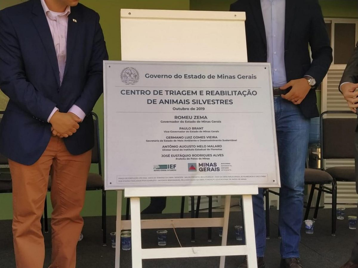 Centro de Reabilitação de Animais Silvestre é inaugurado em Patos de Minas