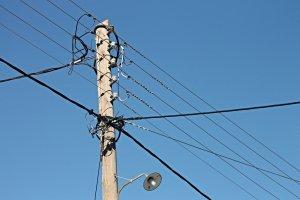 Poste de energia elétrica