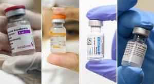 AstraZeneca, CoronaVac, Janssen e Pfizer