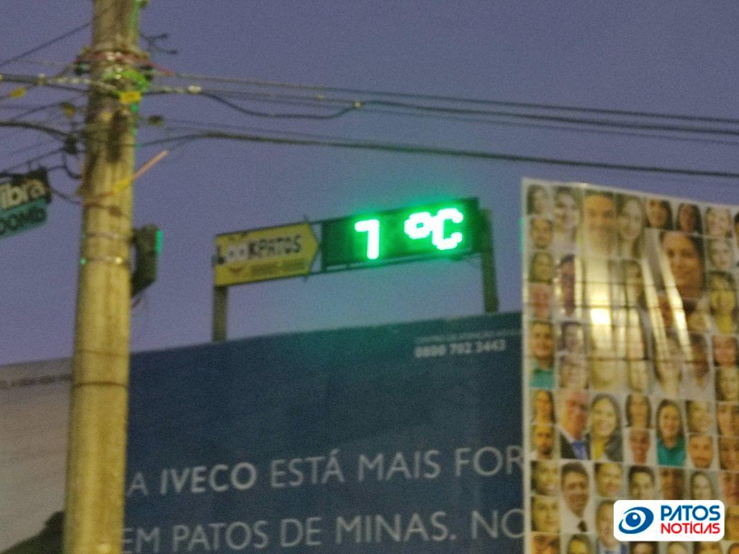 Frio em Patos de Minas