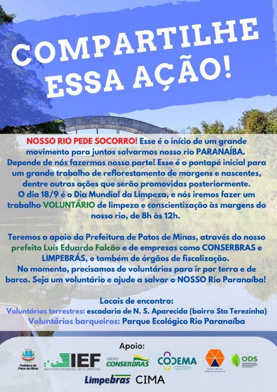 Nosso Rio pede Socorro - Rio Paranaíba - Patos de Minas (2)
