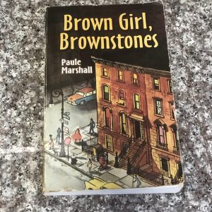 paperback book: brown girl brownstones