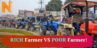 Rich protest by poor farmers – A tangential approach