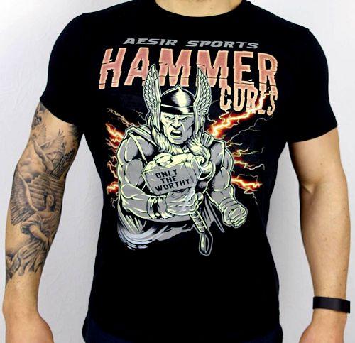 Aesir Sports Slim Fit T-Shirt - Hammer Curls