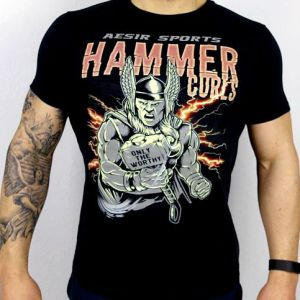 Aesir Sports Slim Fit T-Shirt - Hammer Curls