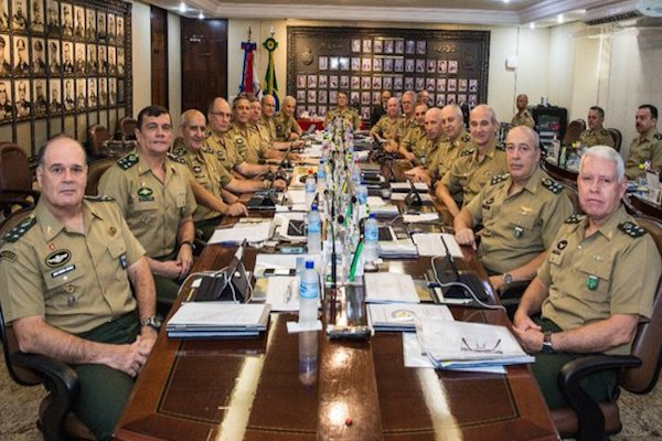 Reunião do Alto Comando do Exército, será primeira reunião do Gen. Leal Pujol a frente do Comando.