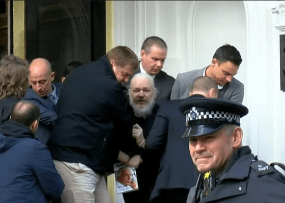 Assange Dragged from Embassy