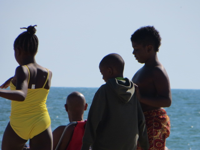 #black children on beach #South Beach