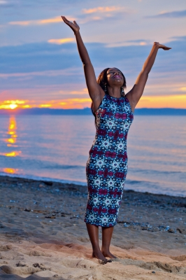 #dream Yourself Awake #Woman on Beach at sunset