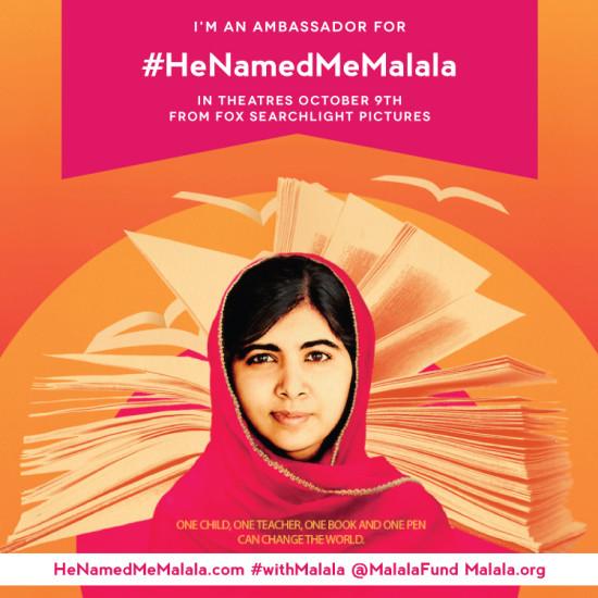 #He Named Me Malala #Malala Fund