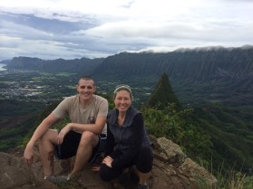 My cousin Nathan took us for an amazing hike up Olomana