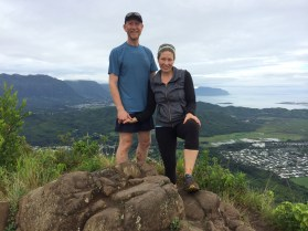 John and I on Olomana hike.